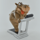 Cheeky Comical Hippo on the Treadmill | BonneBombe